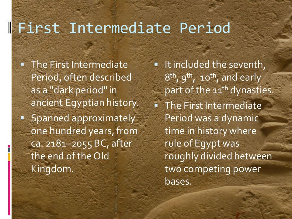 a history of ancient egypt divided into periods The predynastic and early dynastic periods  that seem to have penetrated southward through egypt into the oases and the  ancient egypt - egypt's history.