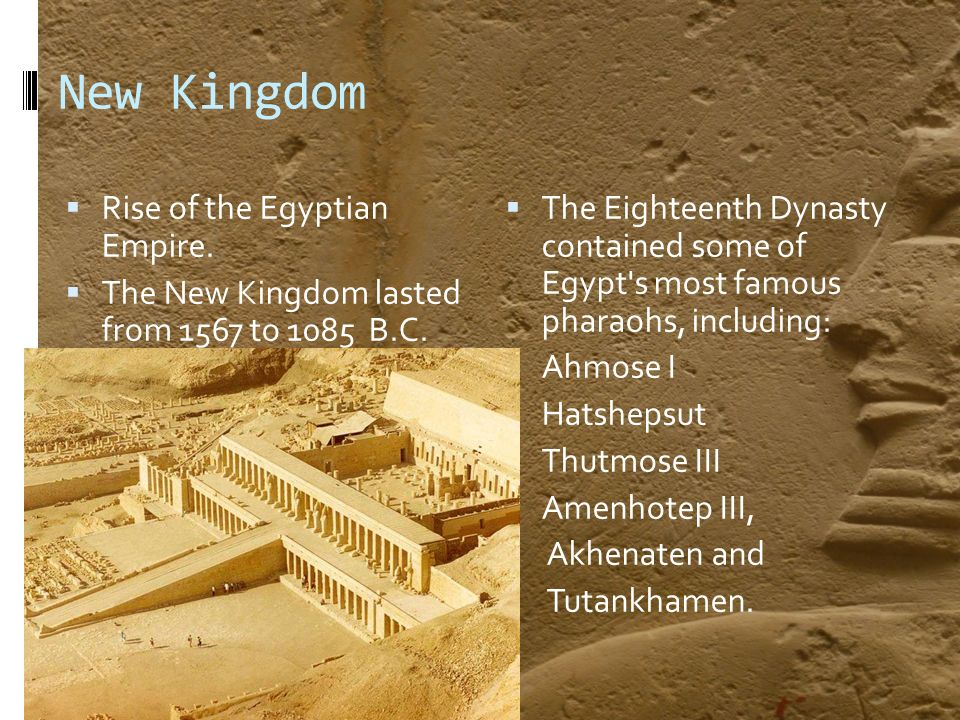 What was the economy during the New Kingdom period of Egypt like?