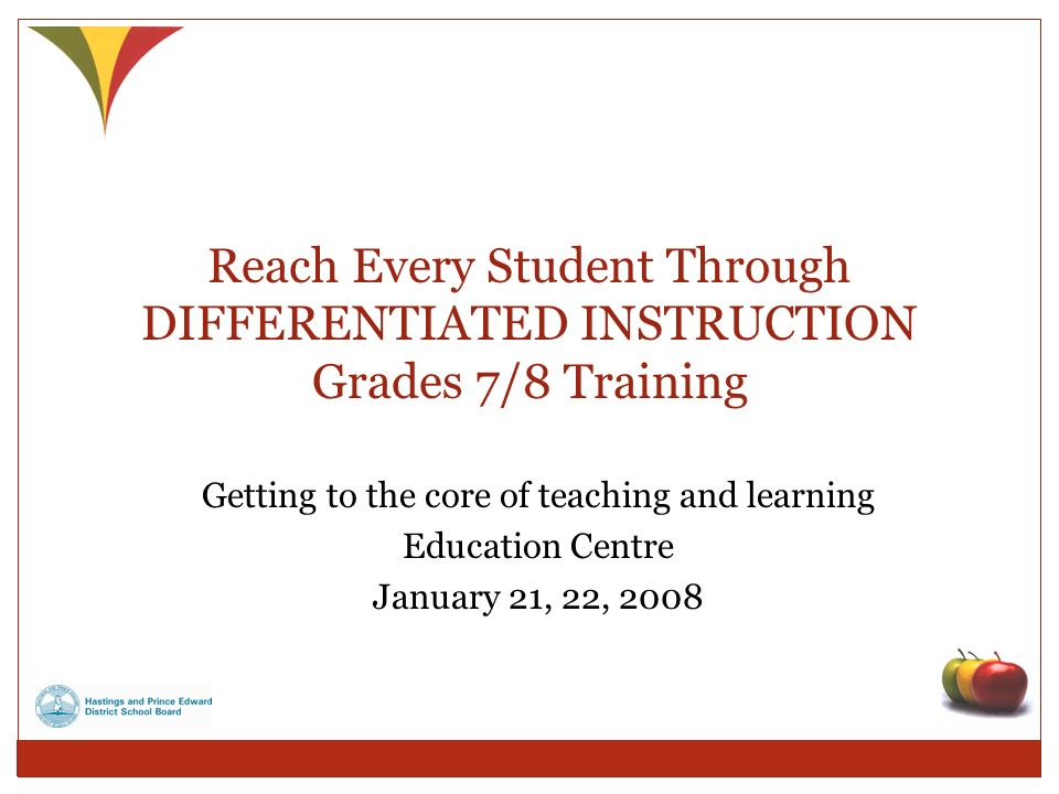 Reach Every Student Through Differentiated Instruction Ppt Video