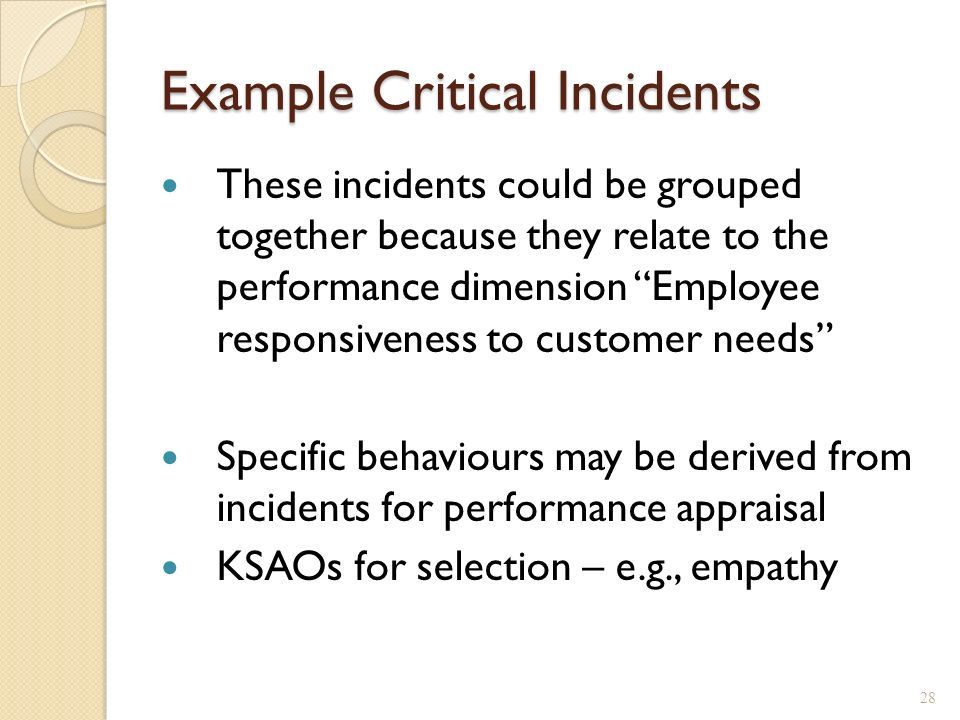 my critical incident A critical incident the significance of critical analysis and critical incidents will the recent literature relating to the incident my essay will.