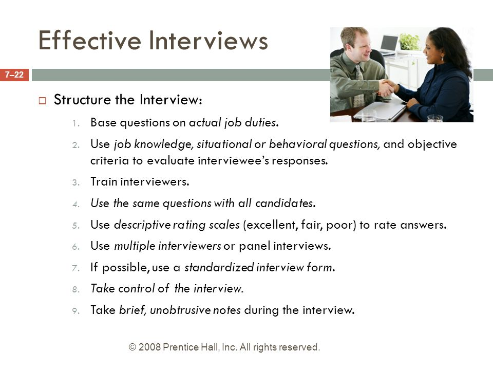 Effective job interview essays
