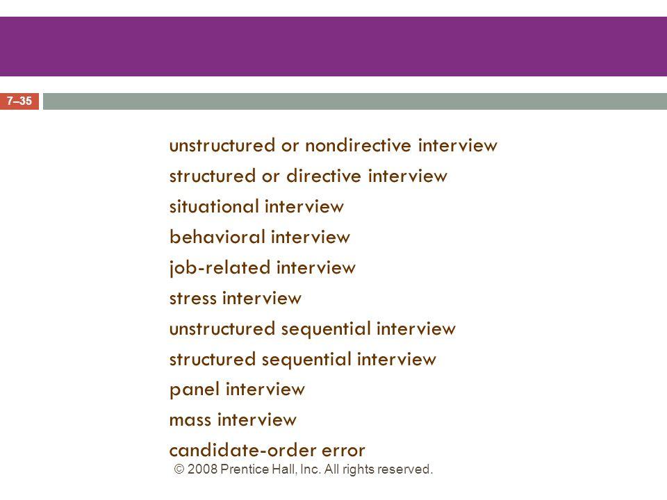 structured sequential interviews