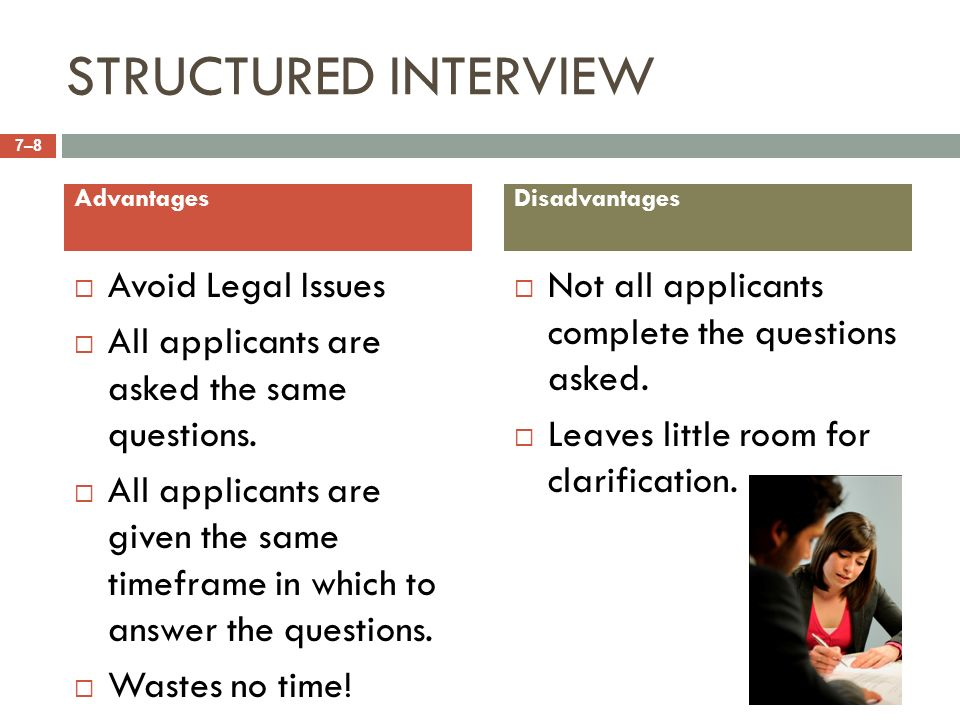 8 structured interview avoid legal issues advantages disadvantages - Structured Interview Questions And Answers Advantages And Disadvantages