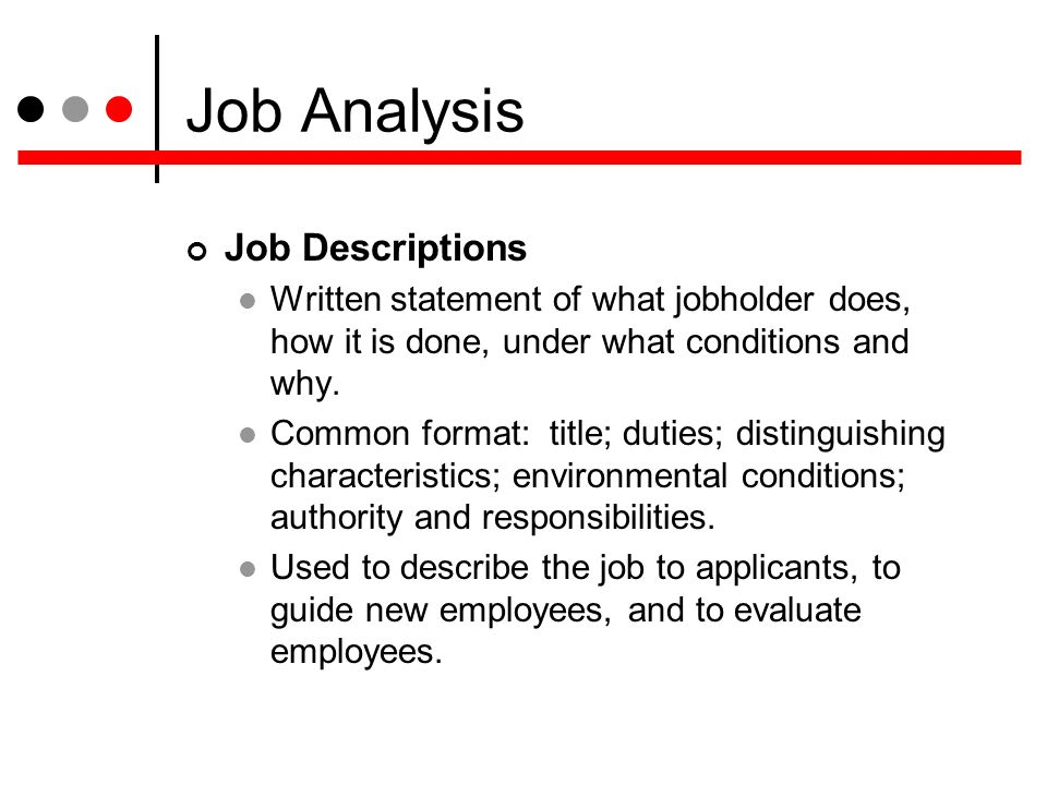 how to distinguish a job description Some bosses ask you to write your own job description because or they really don't know what someone in your position should do and are hoping you'll tell.