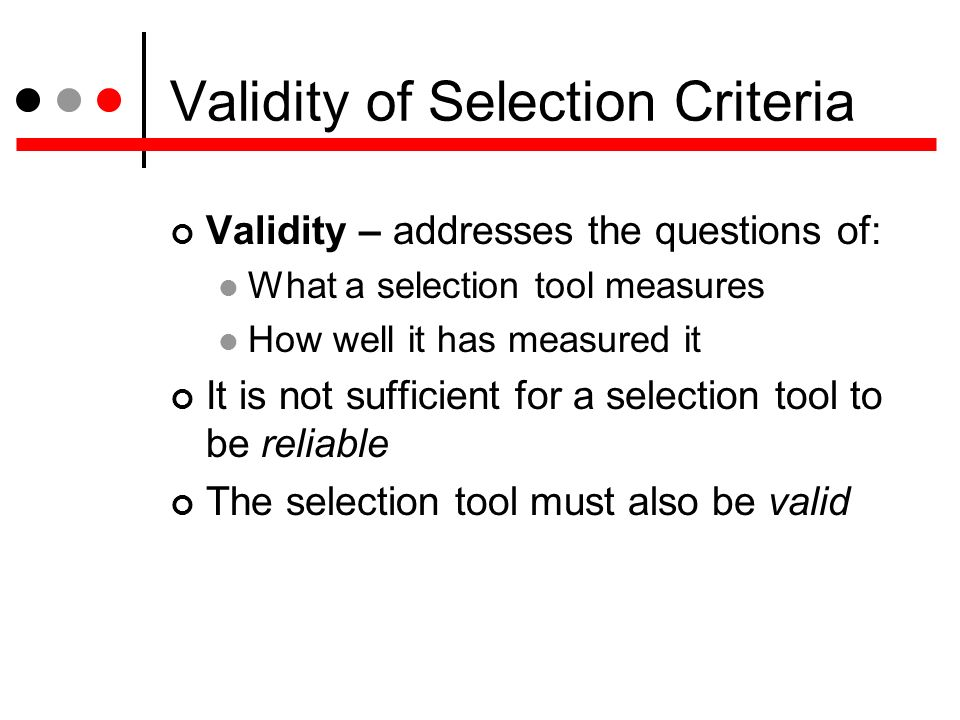 reliability and validity of personal interviews Coverage includes how market research must meet tests of research validity and research reliability in order to be relevant and useful for marketing decision making.