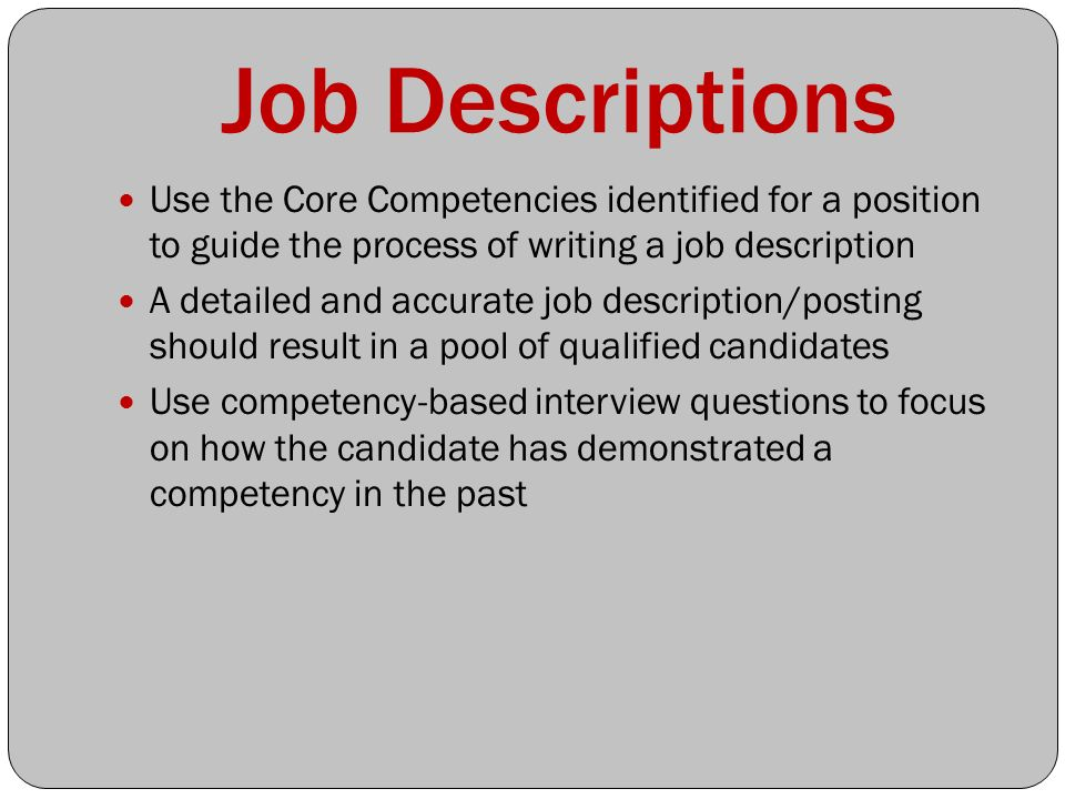 Competency Mapping Essay - Part 2