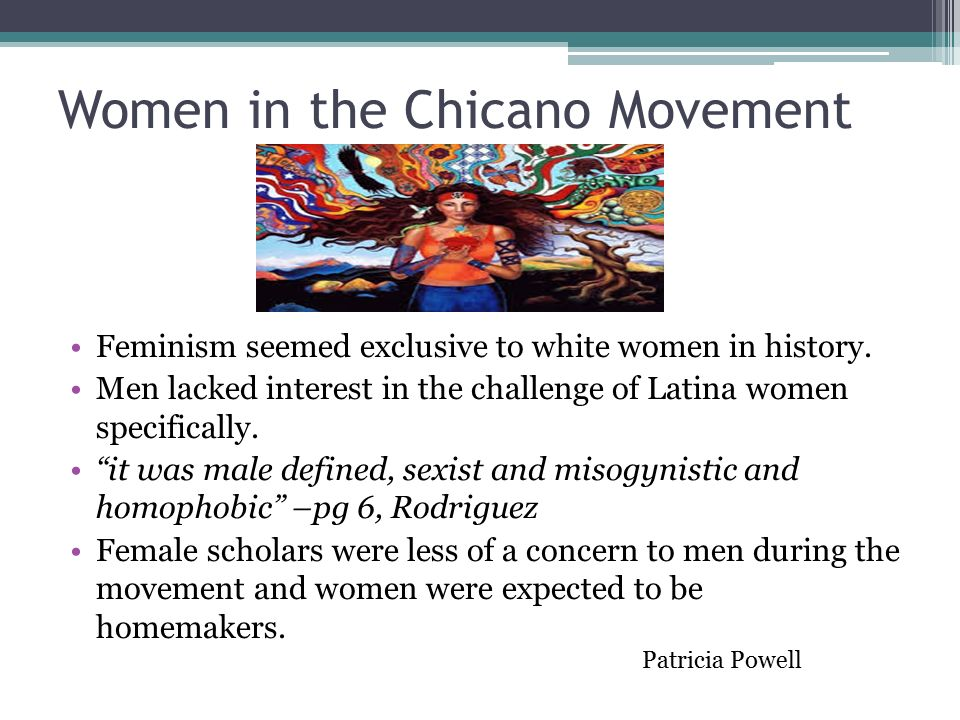 "the origins and history of the chicano movement"" ppt video  women in the chicano movement"