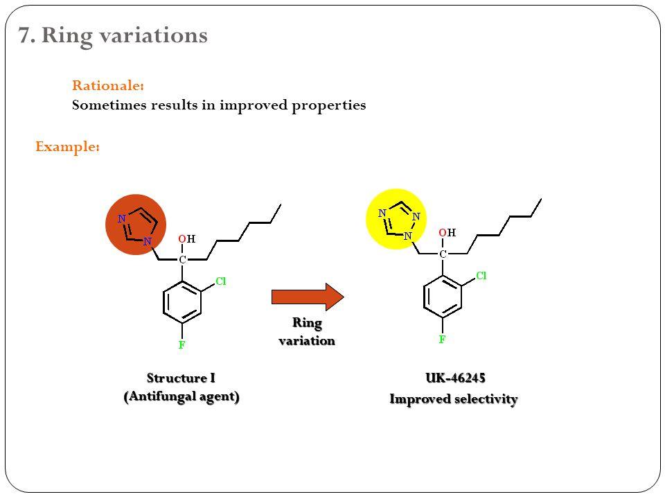 Ring Variations Drug Design