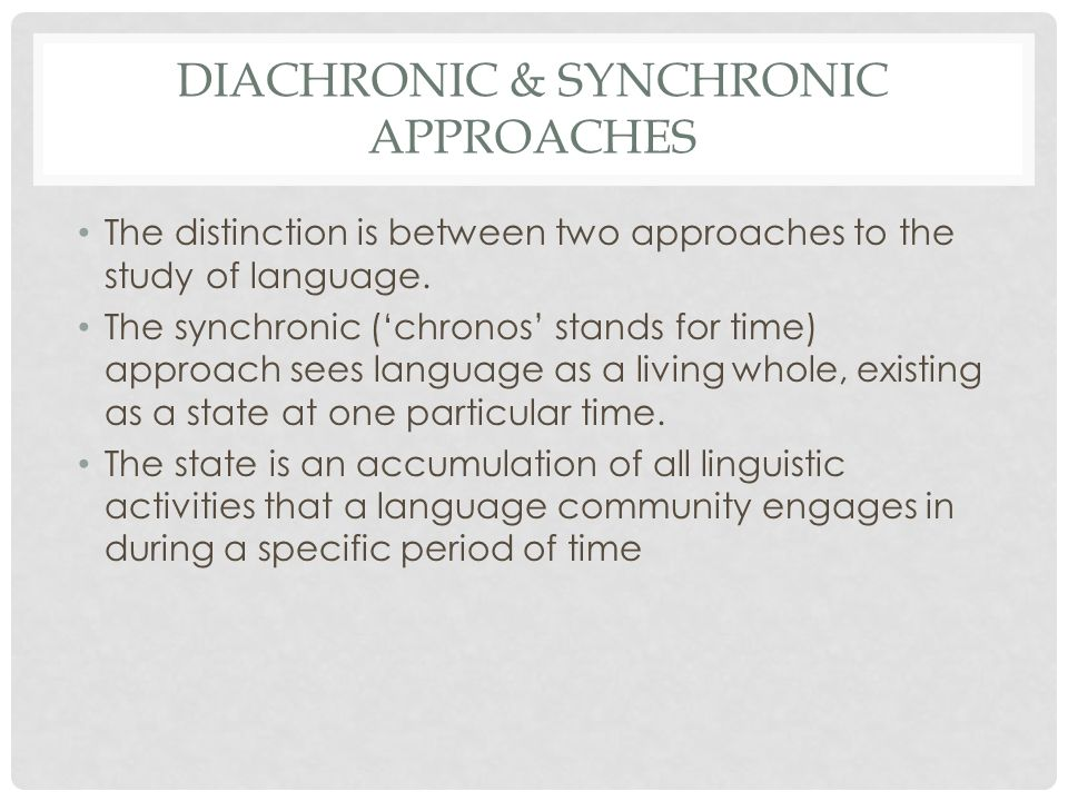 synchronic and diachronic relationship quotes