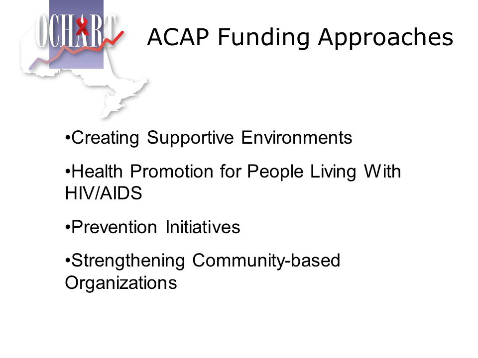 ACAP Funding Approaches