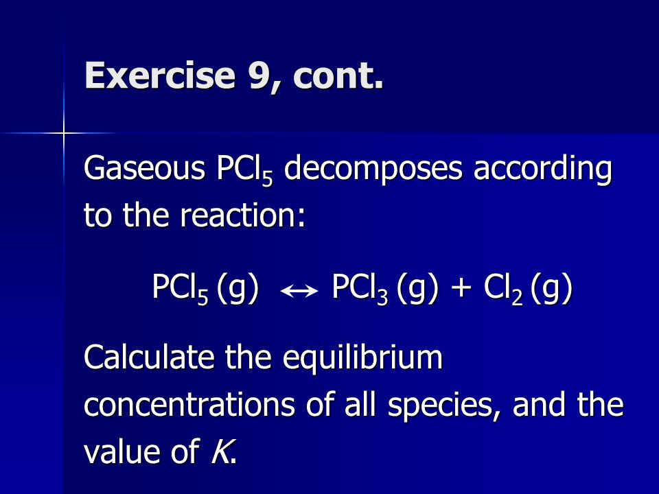 chemical equilibria general concepts