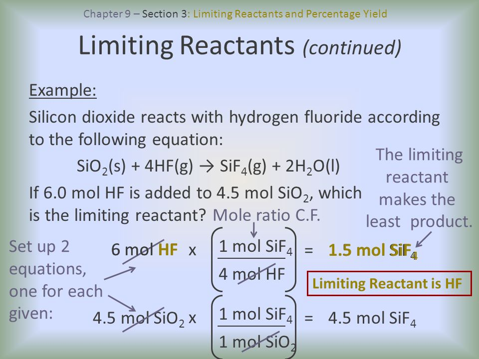 how to find moles of reactants in a product sample