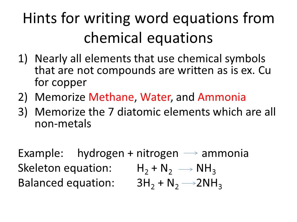 Chemical Equation Ppt Video Online Download