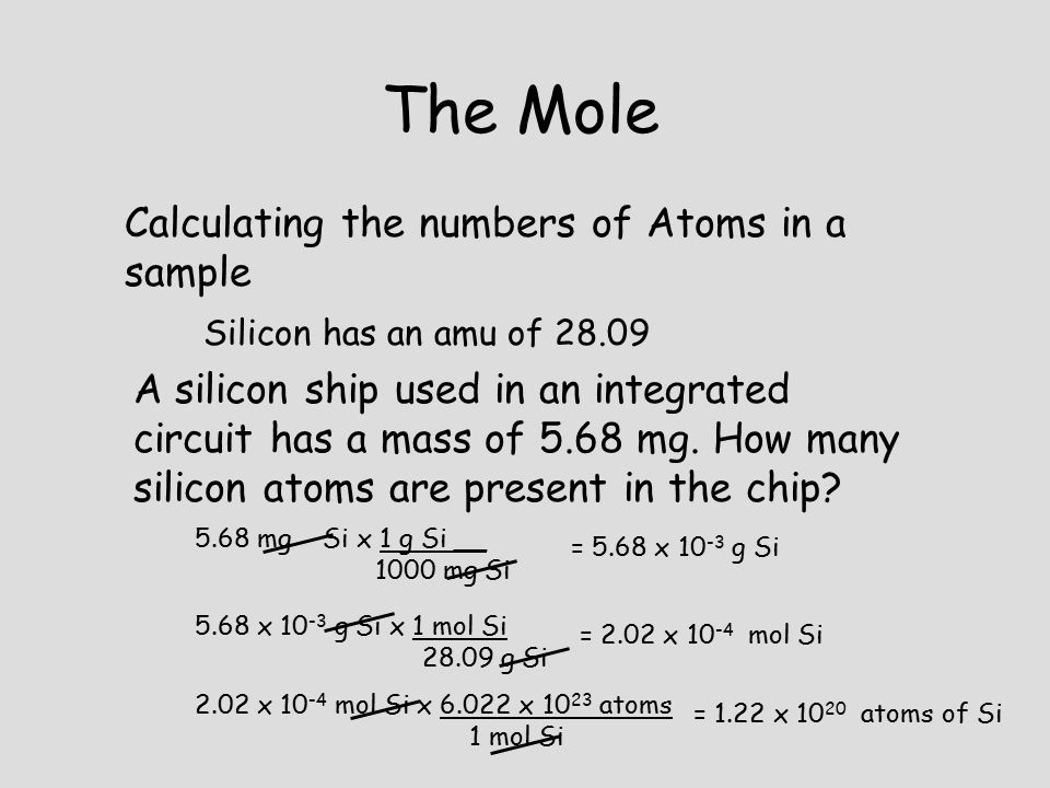 how to find moles to atoms