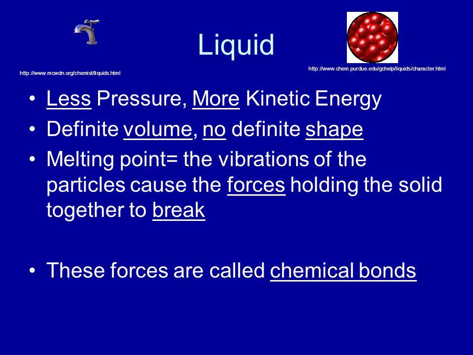 Liquid Less Pressure, More Kinetic Energy