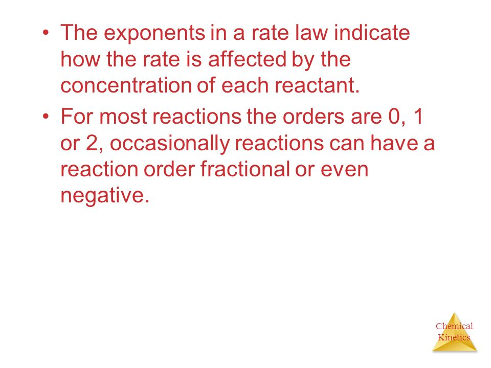 how to find exponents in the rate law