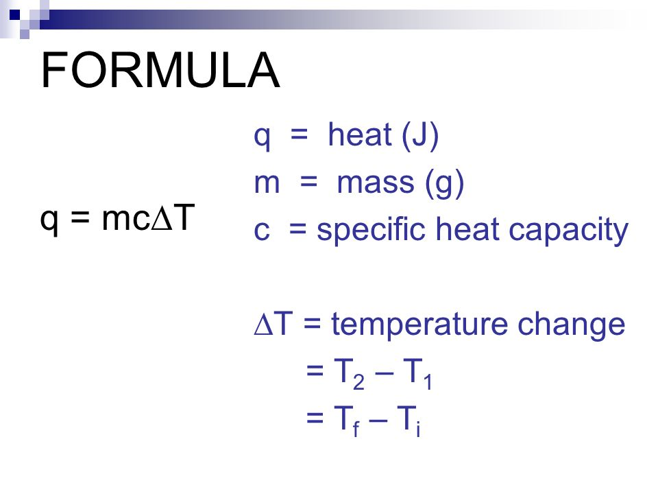 Unit 3 thermochemistry ppt video online download for Specific heat table j gc