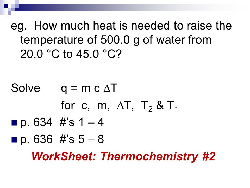 Unit 3 Thermochemistry ppt video online download – Thermochemistry Worksheet