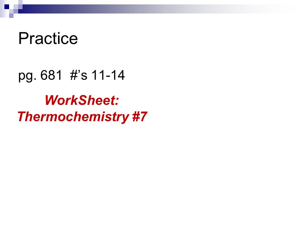 Unit 3 Thermochemistry ppt download – Thermochemistry Worksheet