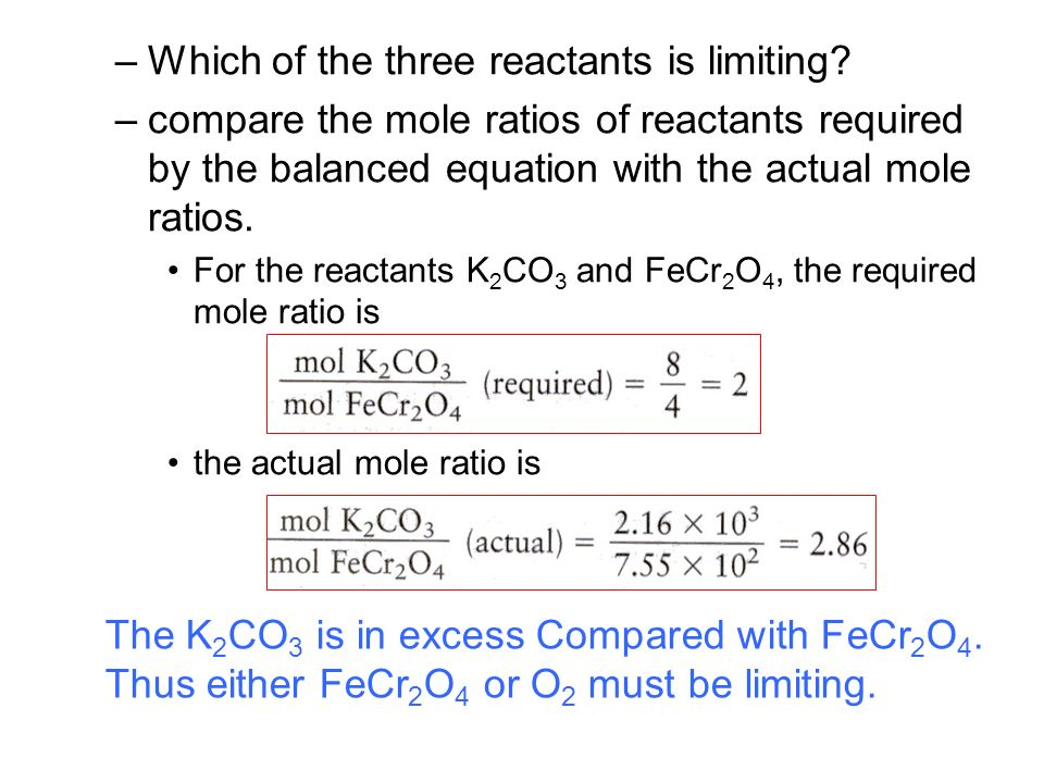 Chemical Stoichiometry the quantities of materials consumed and ...