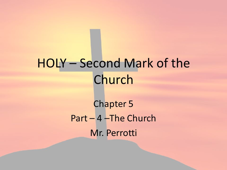 4 marks of the church During a recent speaking tour in australia, my good friend and fellow apologist, deacon harold burke-sivers, and i delivered a presentation on the four marks of the church.