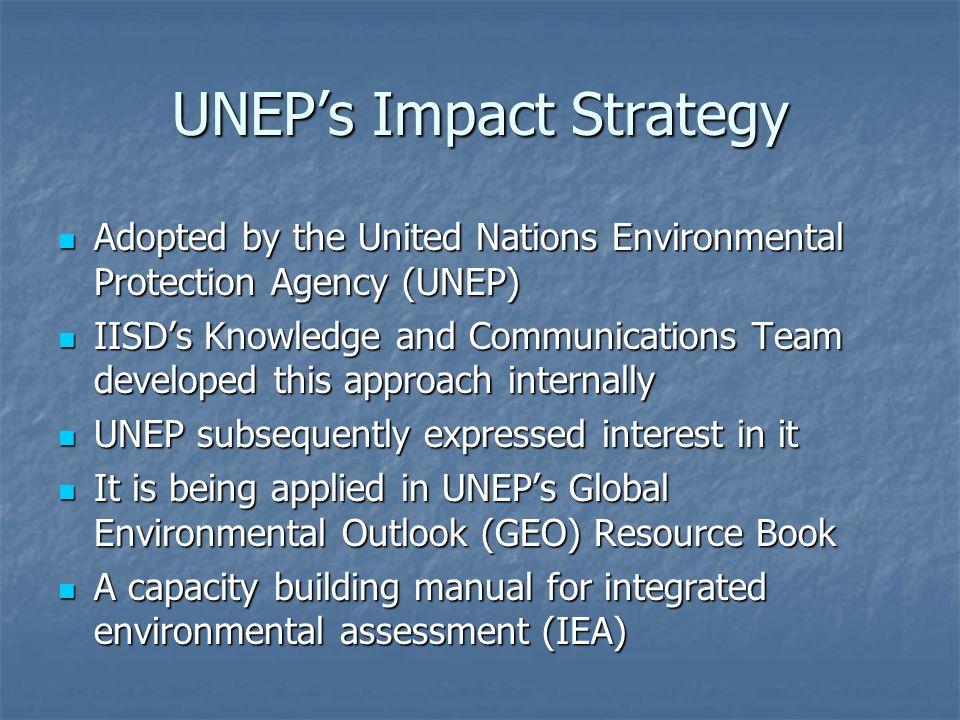 UNEP's Impact Strategy