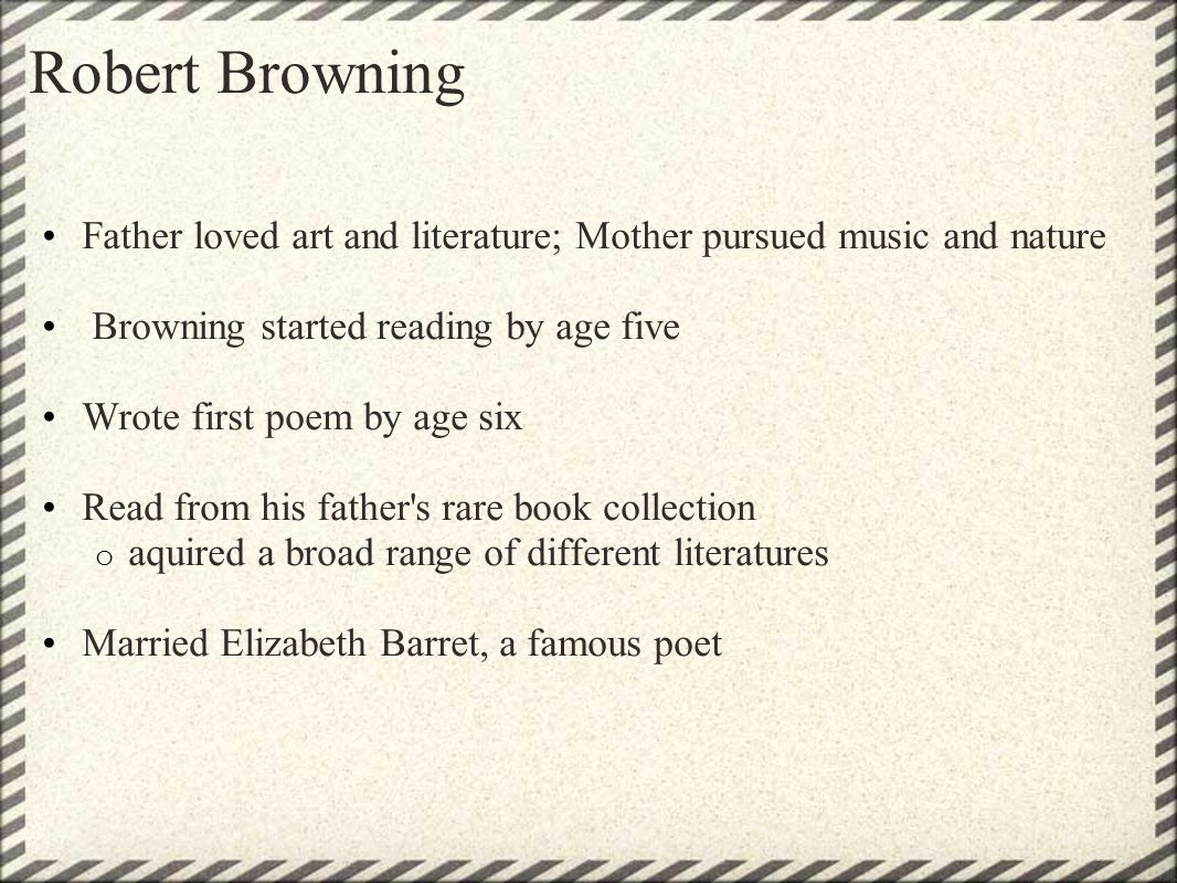 """persona my last duchess An experiment in reading: robert browning's """"my last  a persona, and an attempt to  """"my last duchess"""" can only develop its full force if it is read in a."""