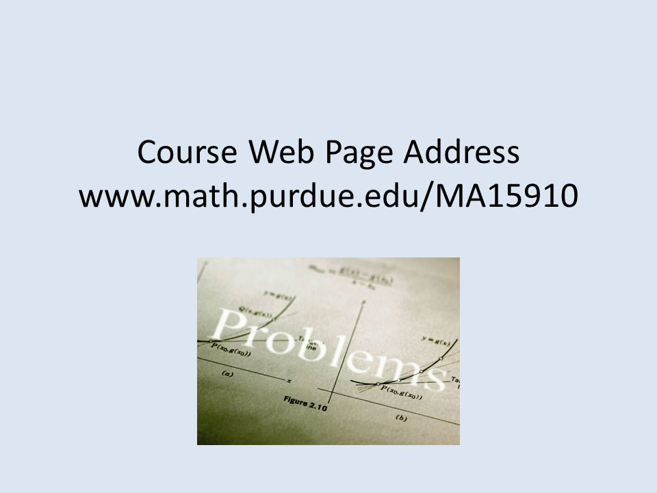 Course Web Page Address