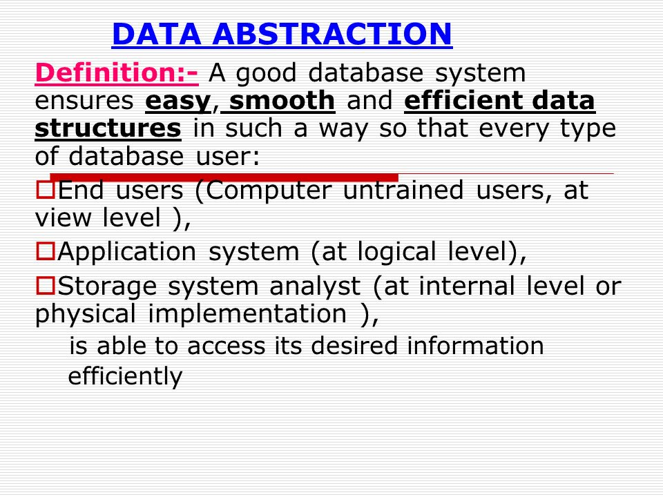 data abstruction