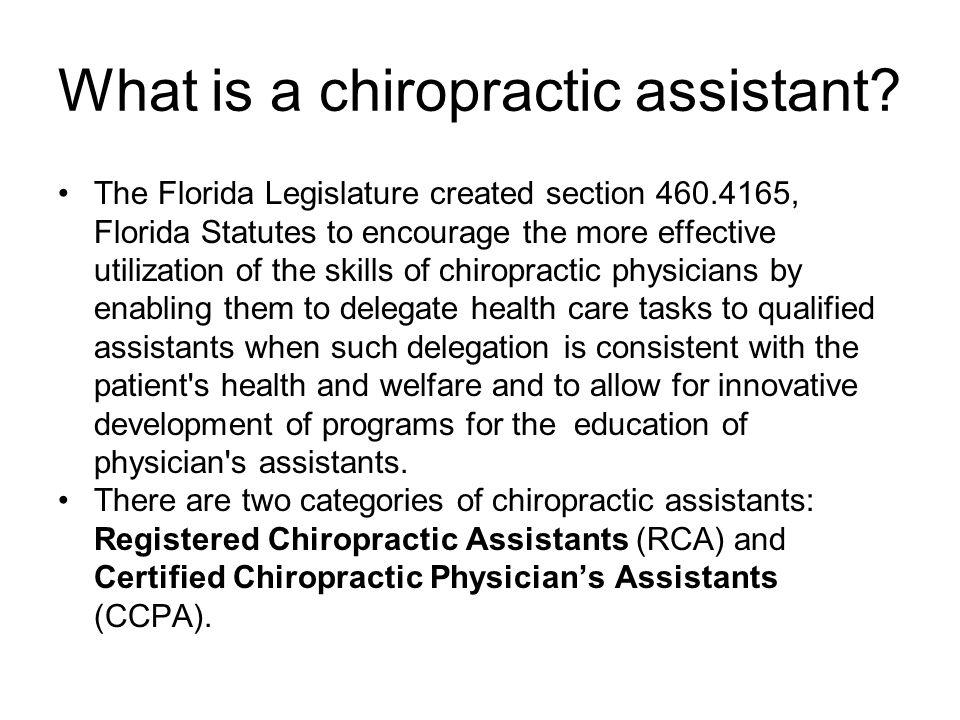 chiropractic assistant duties