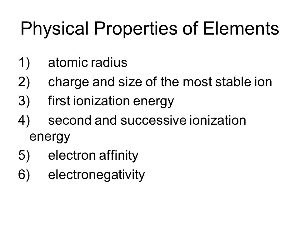 Periodic trends graphing ppt video online download 2 physical properties of elements urtaz Choice Image