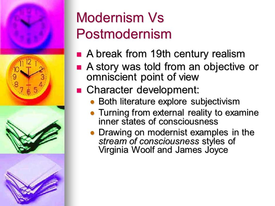 modernism v romanticism in literature We will start with differences between realism vs  or numerous quantity of  optimism as, for example, in the victorian or romantic literature  modernism vs.