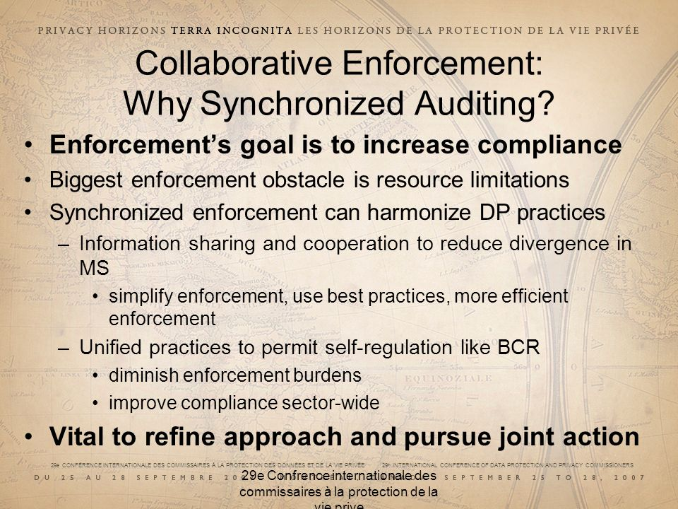 Collaborative Enforcement: Why Synchronized Auditing
