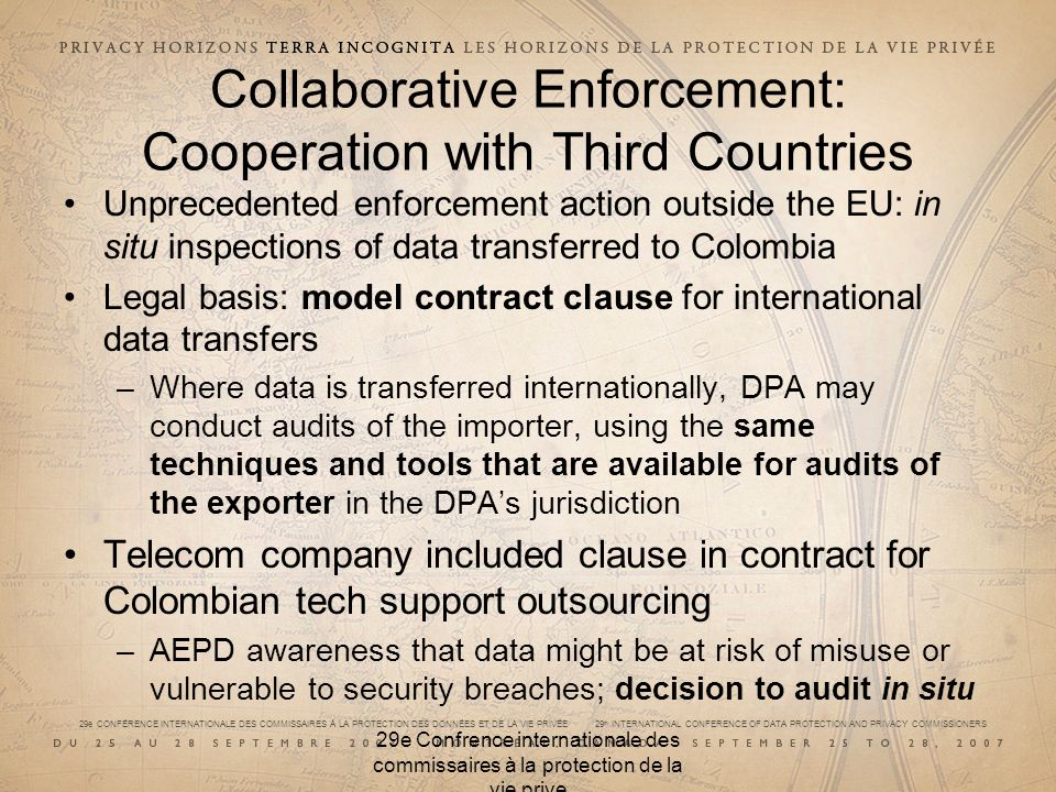 Collaborative Enforcement: Cooperation with Third Countries