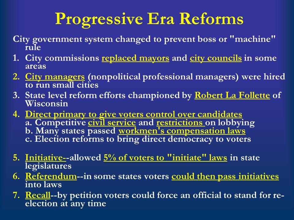 Recall Election Progressive Era Social and Political C...