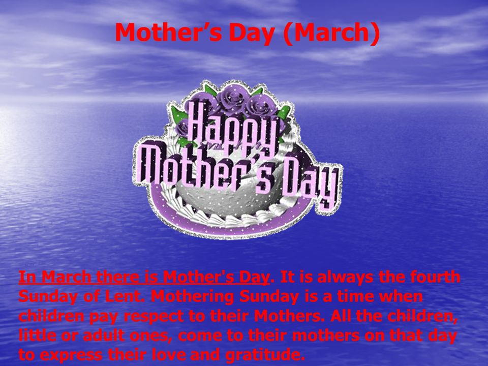 Mother's Day (March)