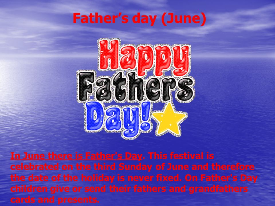 Father's day (June)