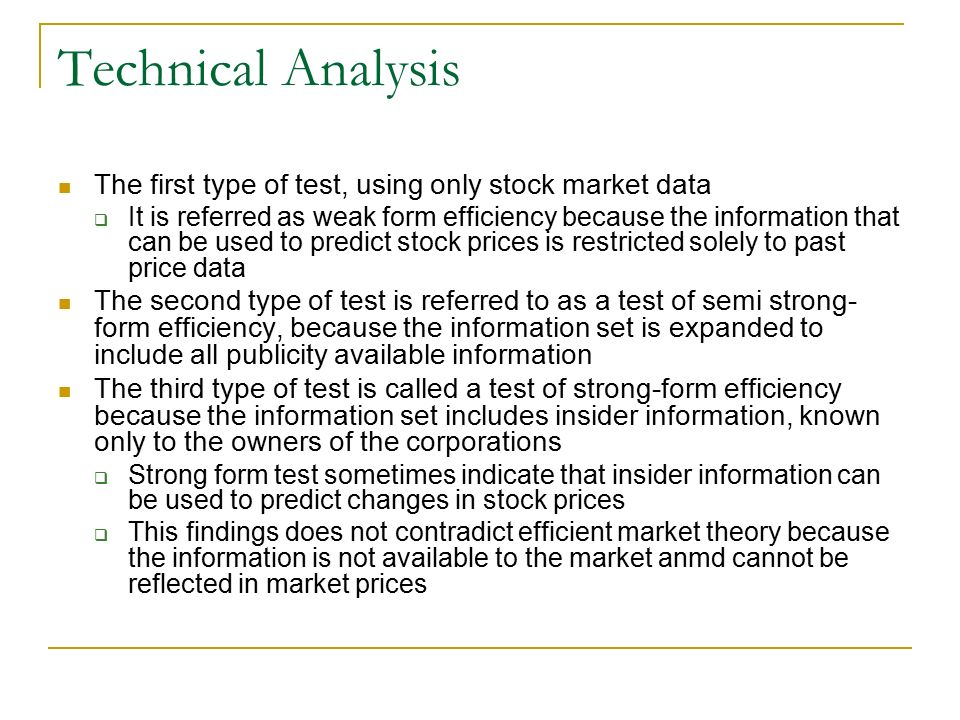 The financial markets context