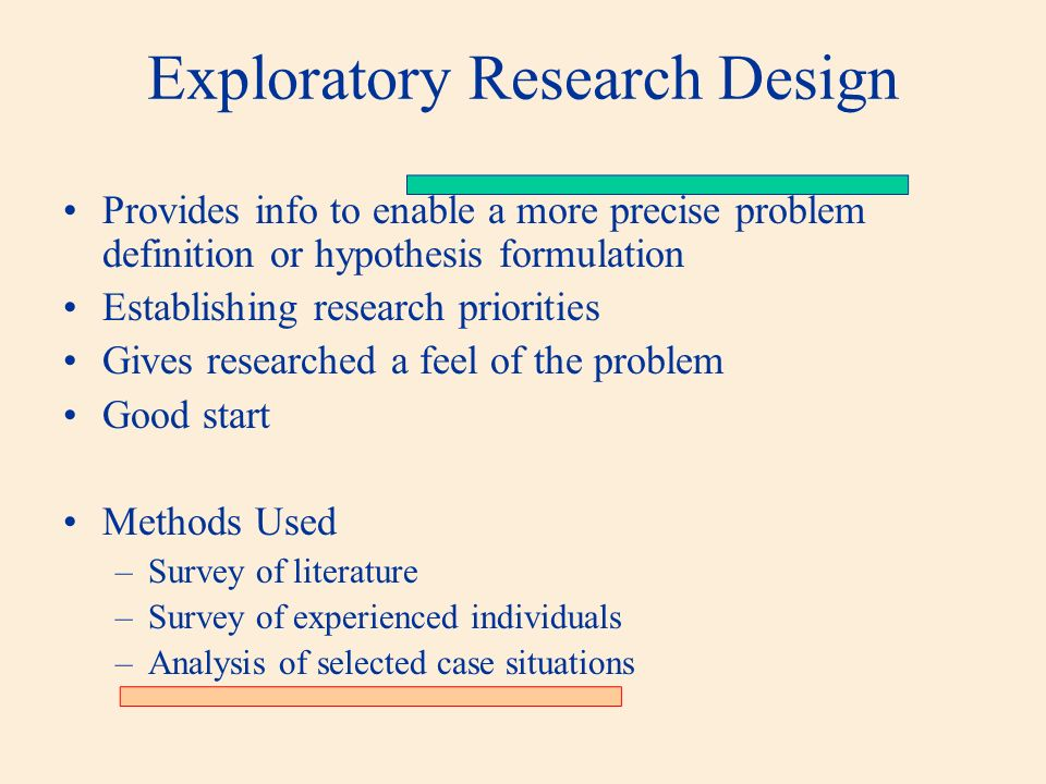exploratory research definition Exploratory data analysis: this chapter presents the assumptions, principles, and techniques necessary to gain insight into data via eda--exploratory data analysis.