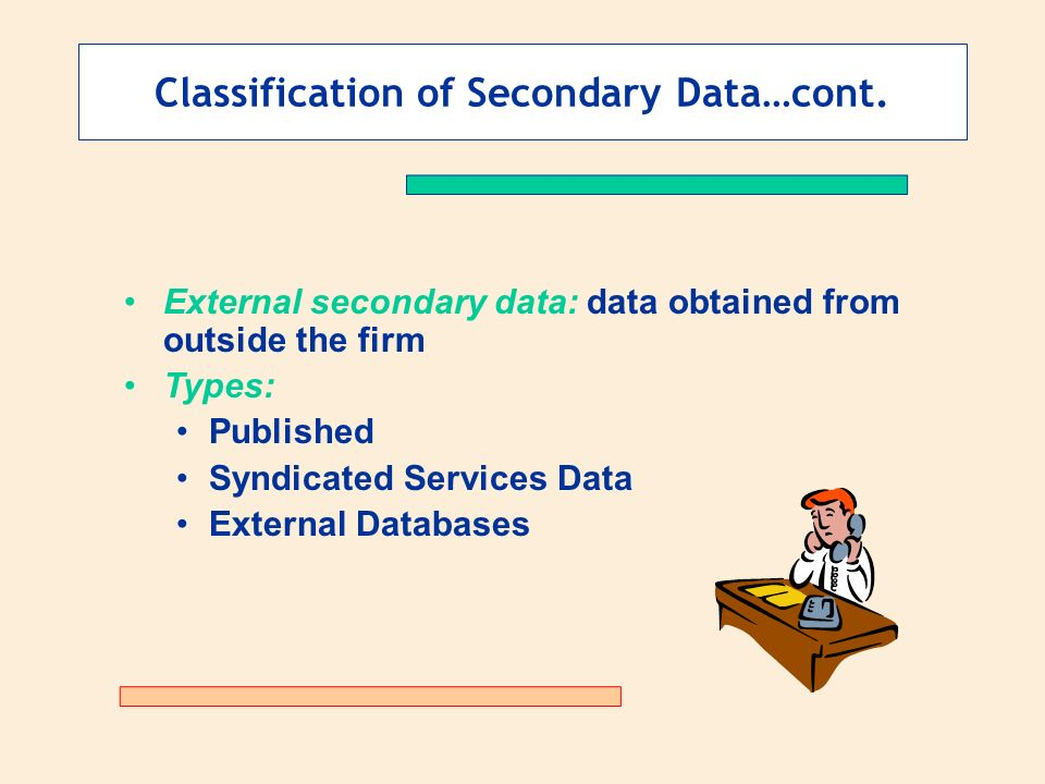 introduction to secondary data Compared to primary data, secondary data tends to be readily available and inexpensive to obtain in addition, administrative data tends to have large samples,.