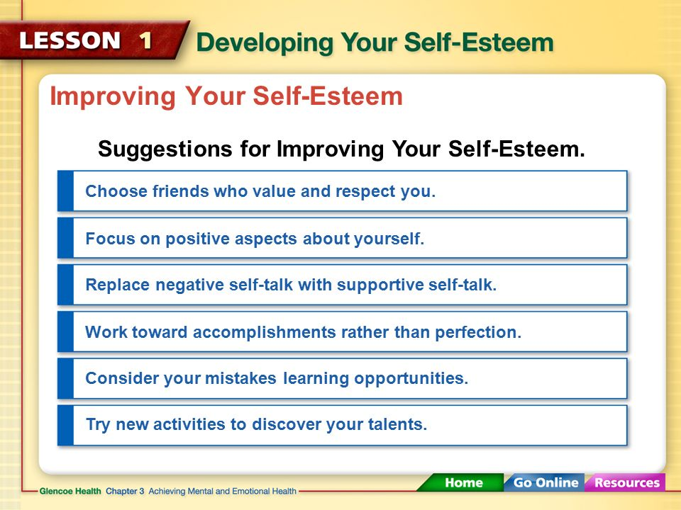 Improving Your Self-Esteem