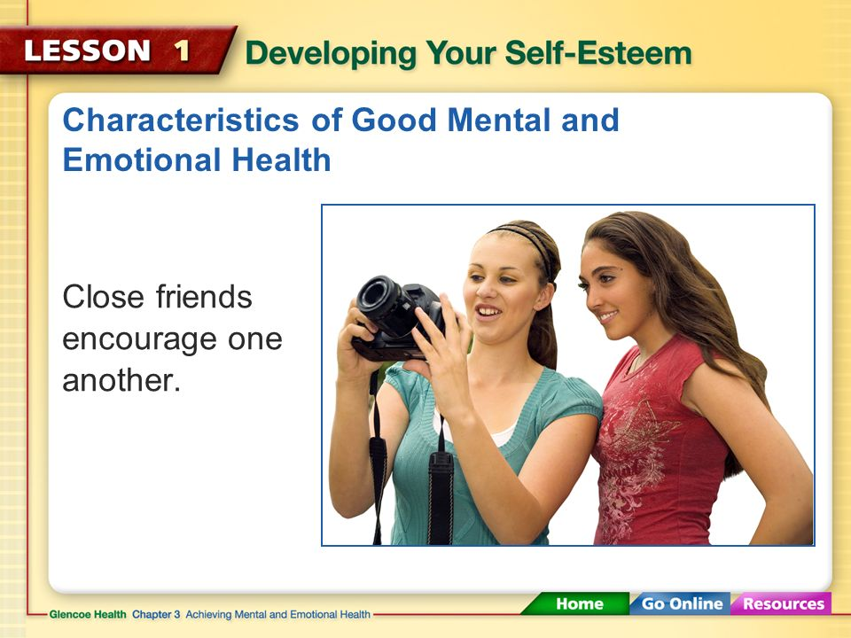 Characteristics of Good Mental and Emotional Health