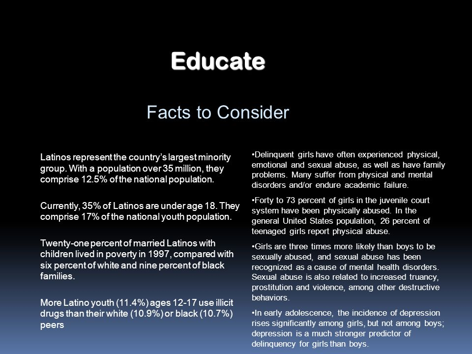 Educate Facts to Consider
