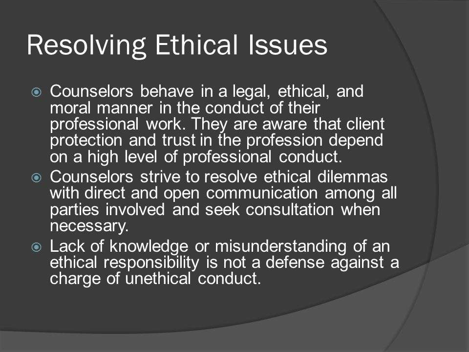 ethical counseling report A new international standard of editorial policy calls for written informed consent by the subject of every case report although this appears to be ethically appealing, the authors posit that in some situations, requesting informed consent may be unethical, can harm patients, and may erode the use of case reports as a valuable teaching method in psychiatry and psychotherapy.