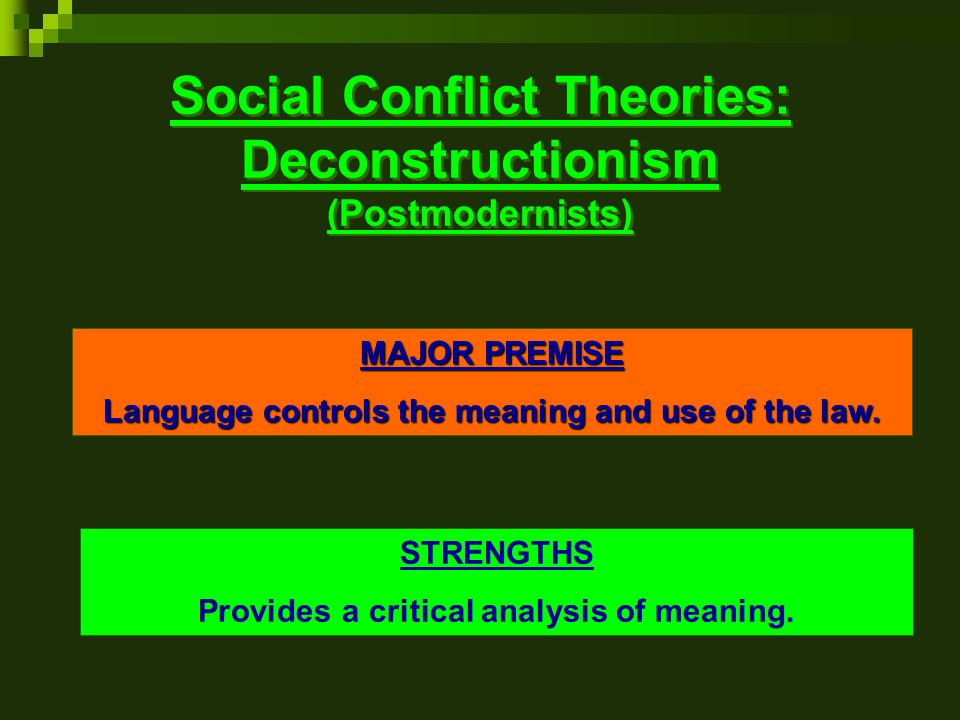 conflict resolution theories and strategies 1 the conflict resolution diagram the logical thinking process the logical thinking process is a set of systems thinking tools that helps us to.