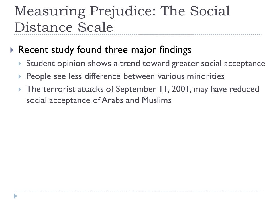 Measuring Prejudice: The Social Distance Scale