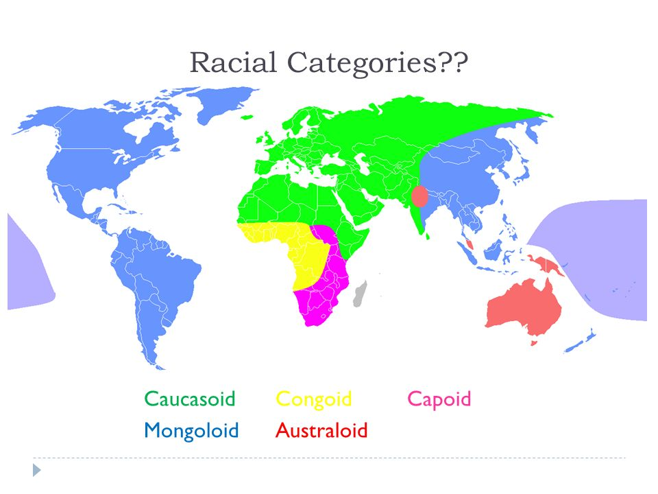 Racial Categories Caucasoid Congoid Capoid Mongoloid Australoid