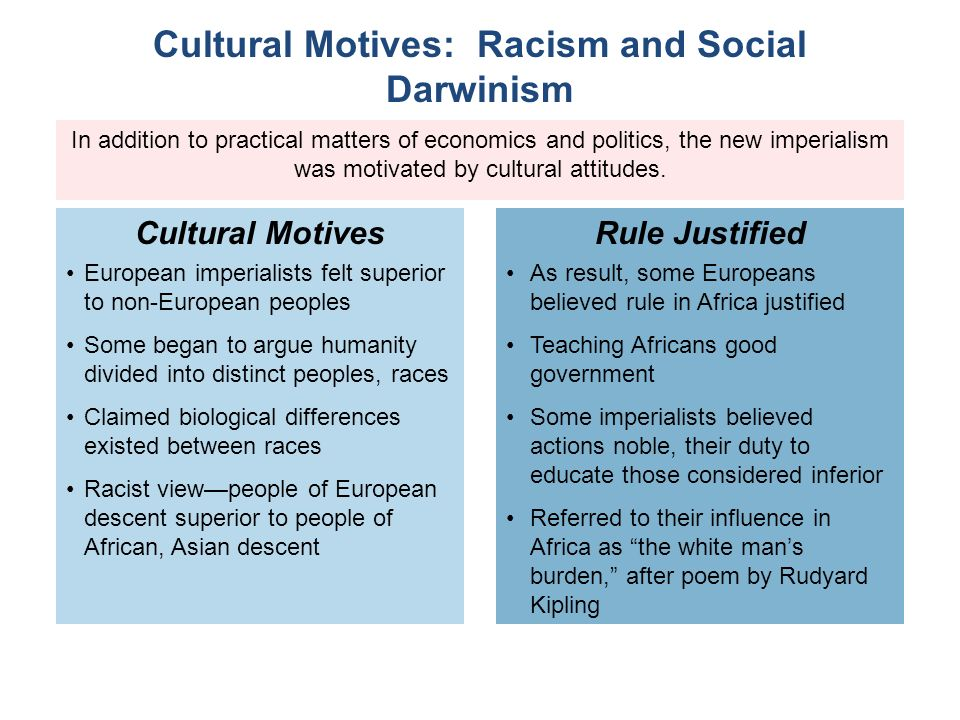 relationship between social darwinism and racism in africa