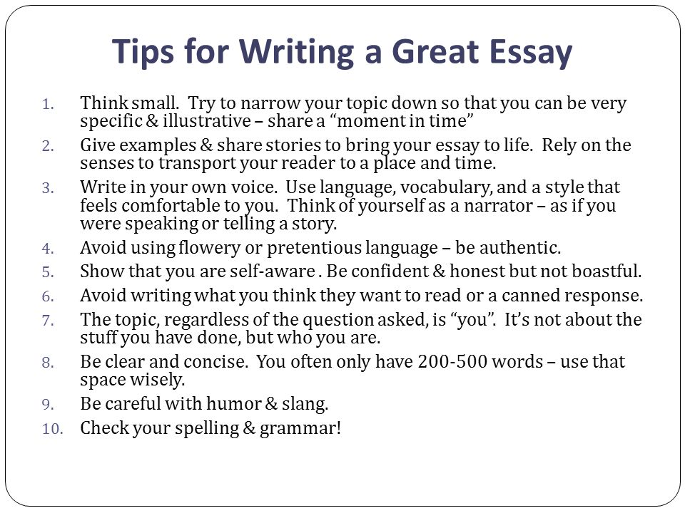 Write my great essay topics
