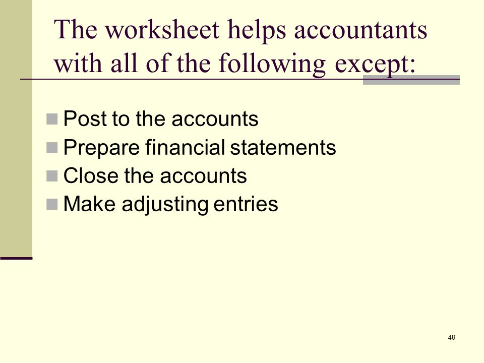 acct 201 week 4 completing the accounting cycle ppt video online download. Black Bedroom Furniture Sets. Home Design Ideas
